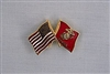 USMC/US Flag Pin