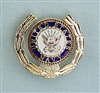 NAVY Wreath Pin