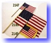 "4"" x 6"" US Flag w/Fringe On Stick"