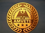 "12"" AMVET Bronze Medallion"
