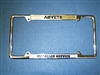 AMVET License Frame Brass
