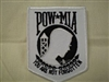 "4"" POW/MIA PatchWhite Back"