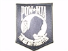"4"" POW/MIA Patch white/black"