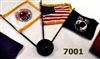Desk Flag Set  (US/POW/AMVETS)