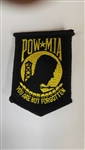 POW//MIA Black & Gold Patch 3""