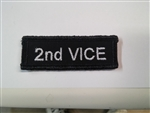 "2nd Vice Patch White on Black 3""x3/4"""