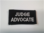 "Judge Advocate 3""x1 1/2"""