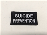 "Suicide Prevention 3 X 1 1/2"" White on Black"