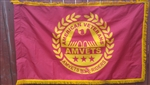 Rider 3' x 5' Double Sided w/ Pole Hem & Gold Fringe