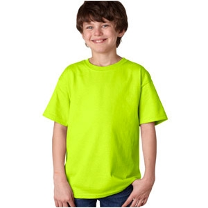 Gildan Safety Green T-Shirt Youth 50/50 Cotton/Polyester
