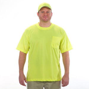 Safety  Lime T-Shirt 100% Polyester Breathable Fabric
