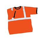 Safety T-Shirt Orange with Reflective Tape