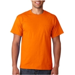 Gildan Safety Orange T-Shirt with Pocket