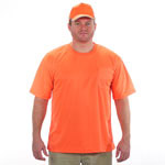 Safety Orange T-Shirt 100% Polyester Breathable Fabric