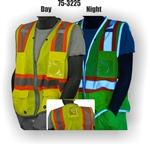 ANSI Class 2 , Mesh Safety Vest, High viz d ring