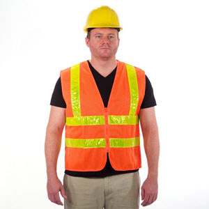 Polyester Mesh Orange Safety Vest