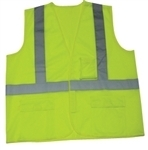 Class 2 Lime Safety Vest With Zipper