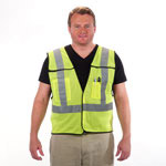5 Point Breakaway Reflective Safety Vest Lime