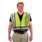 Sheriff 5 Point Breakaway Public Safety Vest Lime