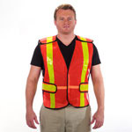 Expandable Orange Safety Vest