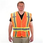1st Responder 5 Point Breakaway Reflective Mesh Safety Vest Orange