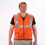 5 Point Tear-Away Safety Vest Orange