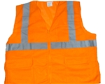 Class 2 Orange Safety Vest With Pockets