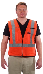 5 Point Breakaway Reflective Safety Vest Orange