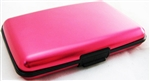 Aluminum RFID Charging Wallet Pink Atomic Charge As Seen on TV