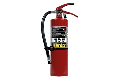 ANSUL SENTRY DRY CHEMICAL FIRE EXTINGUISHER - 5 LB. WITH WALL HOOK