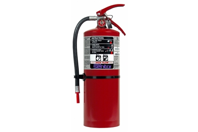 ANSUL SENTRY HIGH-FLOW DRY CHEMICAL PURPLE K FIRE EXTINGUISHER - 10 LB. WITH WALL HOOK