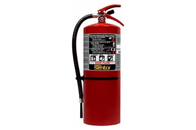 ANSUL SENTRY HIGH-FLOW DRY CHEMICAL ABC FIRE EXTINGUISHER - 20 LB. WITH WALL HOOK