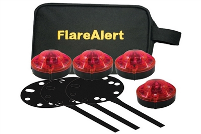 FLARE ALERT PRO ACCESSORY KIT - 4 PACK - RED OR YELLOW