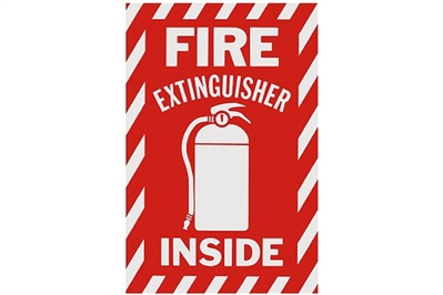 "FIRE EXTINGUISHER INSIDE SIGN - 6"" X 9"""