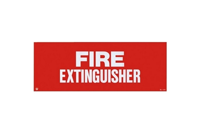 "FIRE EXTINGUISHER SIGN - 12"" X 4.5"""