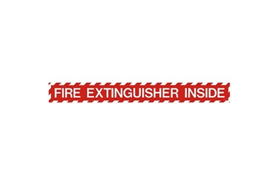 "FIRE EXTINGUISHER INSIDE SIGN - 18"" X 2"""