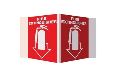 "FIRE EXTINGUISHER STAND-OUT SIGN - 5"" X 6"""