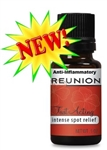 Reunion AI is a custom blend of purest of essential oils.  Similar to Reunion ISR, Reunion AI has two additional ingredients to reduce pain due to inflammation.  For osteo and rheumatoid arthritis, inflamed joints ... any peripheral pain. 45-60 doses.