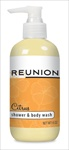 Daily usage shower gel containing Reunion ISR oils.  Reunion products containing Reunion PN pain relief formula are engineered to be cumulative and preventative for episodic neuropathy.
