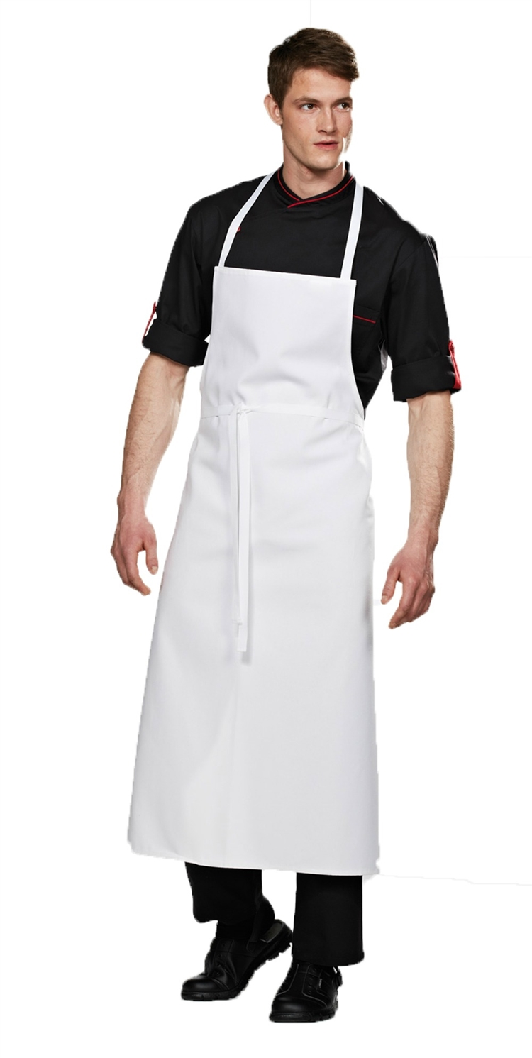 White Travel Chef Apron without Pocket