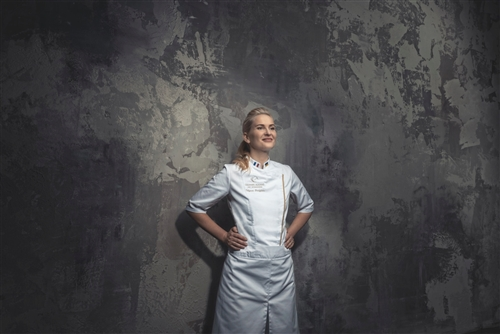 Sienne classic women fitted Chef jacket white
