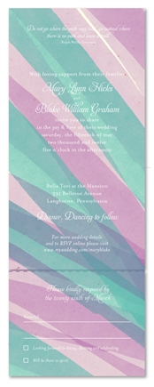 Send n Sealed Wedding invitations on 100% Recycled Paper - Aloe Vera Color Splash