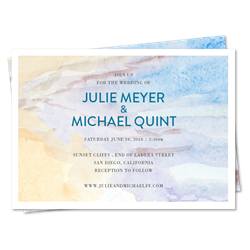 San Diego Beach Wedding Invitations | Beach Side in Mission Bay