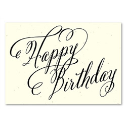 Elegant Birthday cards ~ Beginnings by Green Business Print