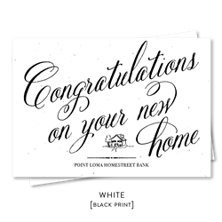 Real Estate Realtor New Home Congratulations | New Home by Green Business Print