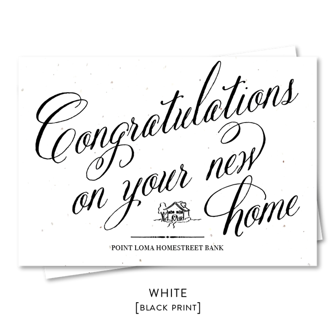 Real Estate New Home Congratulations Seeded Paper Green Business Print