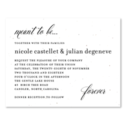 Elegant Green Wedding Invitations | Beginnings *plantable