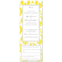 All in One Wedding Invitations - Bright Old Times (Send and sealed format)