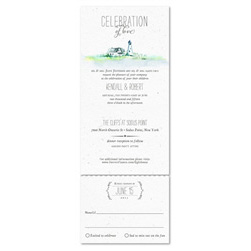 Lighthouse Wedding Invitations ~ Cape Code(100% recycled paper)