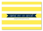 Classic Stripes Thank you cards by ForeverFiances Weddings
